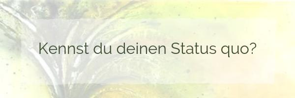 Kennst du deinen Status Quo?