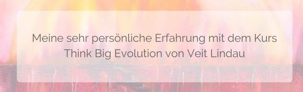 Veit Lindau Erfahrungen - persönliche Eindrücke vom Kurs Think Big Evolution